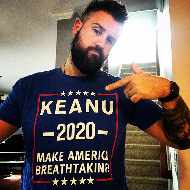 People are always asking me about politics. Here it is. My next president: Keanu 2020. Thanks @capaicarus41