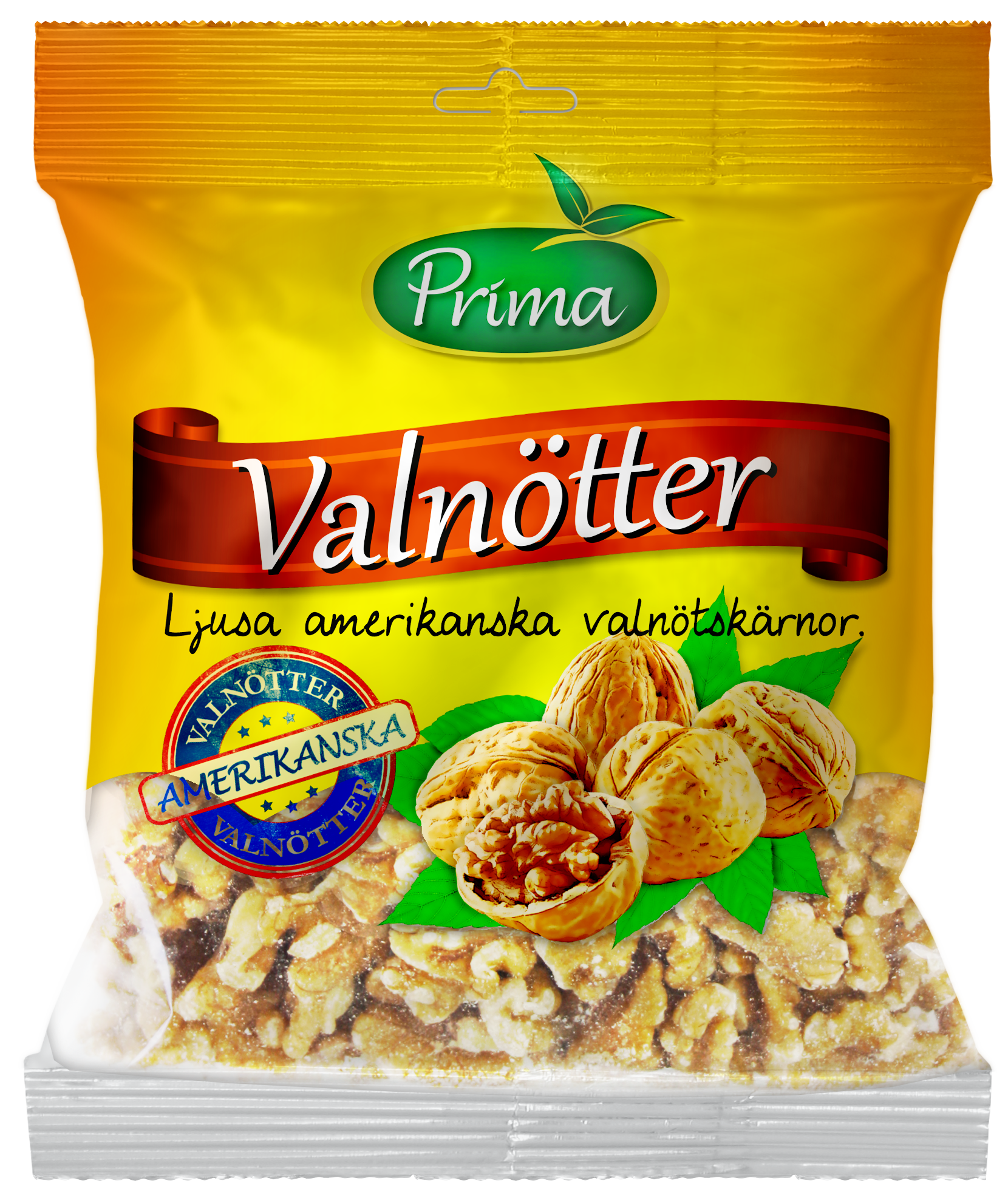 WALNUTS - Walnuts from sunny California, in halves and pieces. The bag contain 300 g.Ingredients:Natural walnut kernels.Nutritional value per 100gEnergy 699 kcal / 2800 kJFat 62g, of which saturated fat is 5.6gCarbohydrates 13g, of which sugars 5.9gProtein 14.3 gFiber 6gSalt 0g