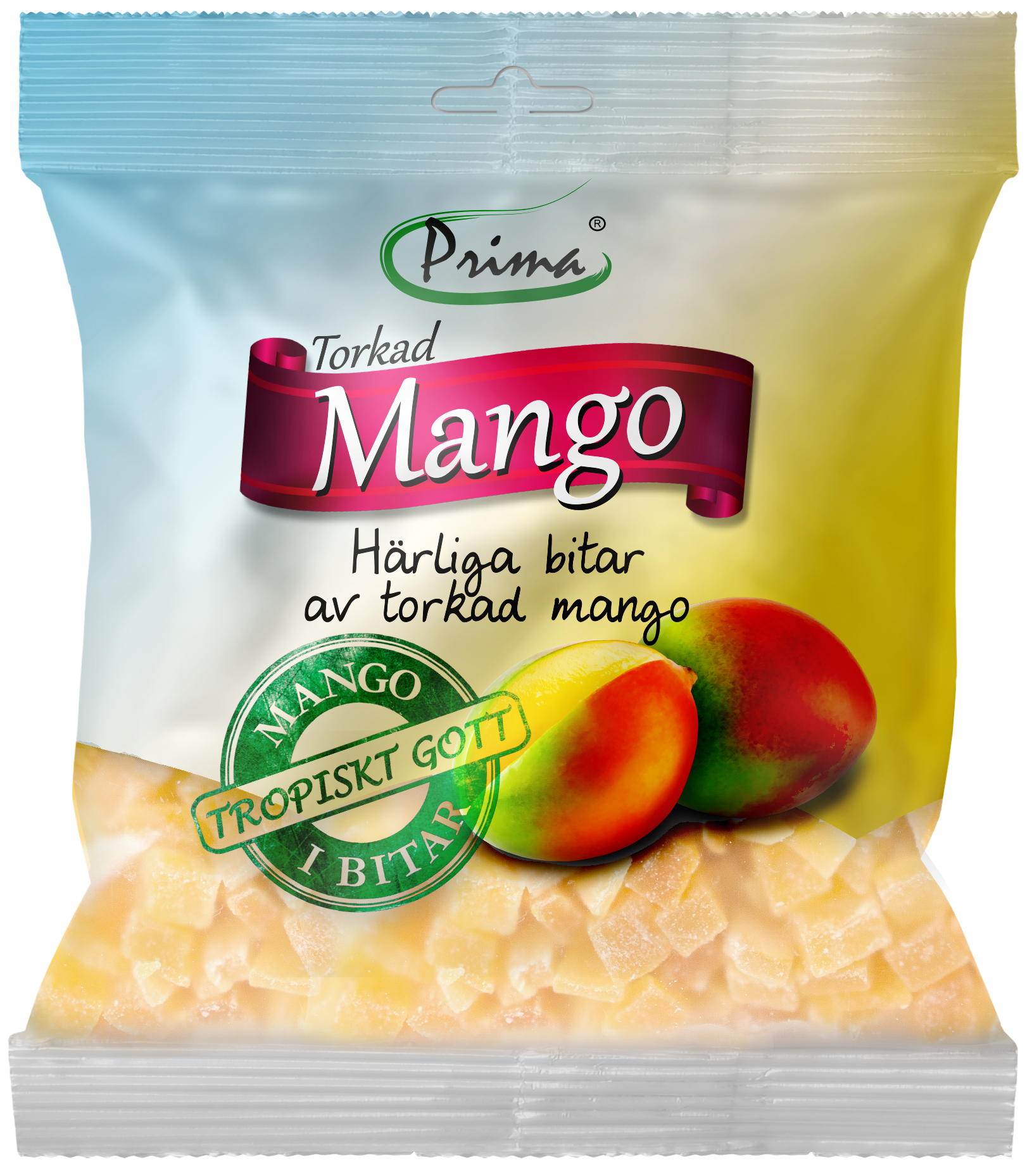 dried mango - Delicious pieces of dried mango. The bag contain 175 g.Ingredients:Dried pieces of mango, sugar, preservative E220, acidity regulator E330Nutritional value per 100gEnergy 360kcal / 1507 kJFat 0g, of which saturated fat is 0gCarbohydrates 90g, of which sugars 74gProtein 1gSalt 287.5mg