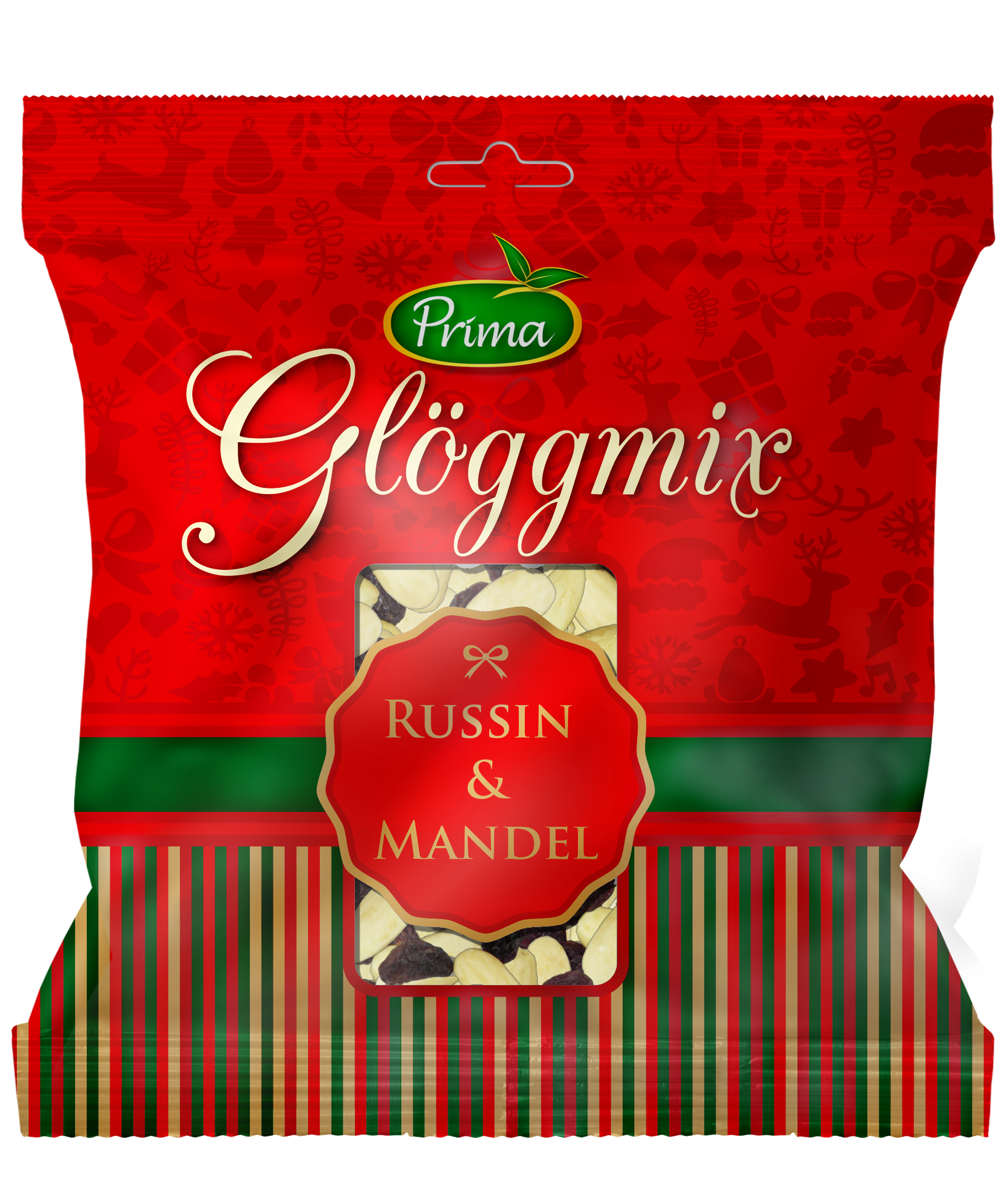 """Glöggmix - For adding in the traditional Swedish drink of spiced wine called """"Glögg"""". Peeled almonds and raisinsIngrediens:Almond and raisin"""