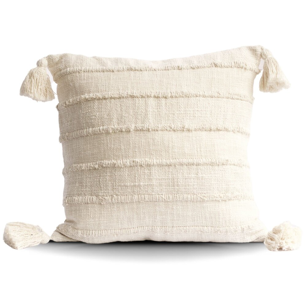 Diamond Pattern Cream Cotton Throw Pillow Tajik Home Handmade Throws Pillows Blankets And Home Decor