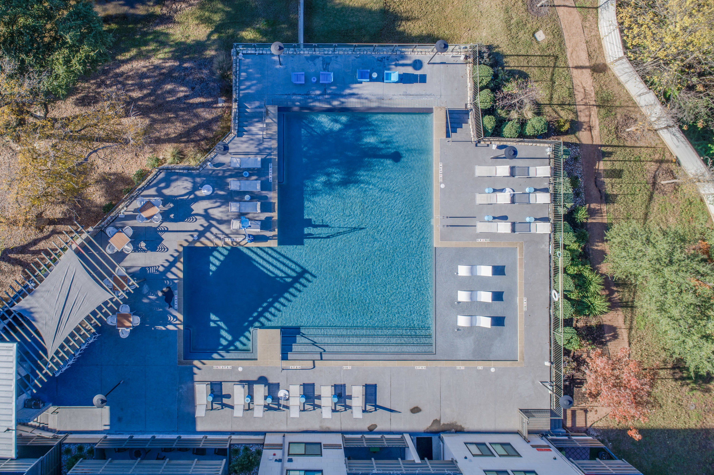 GreenView - Austin, Texas (Pool view from above)