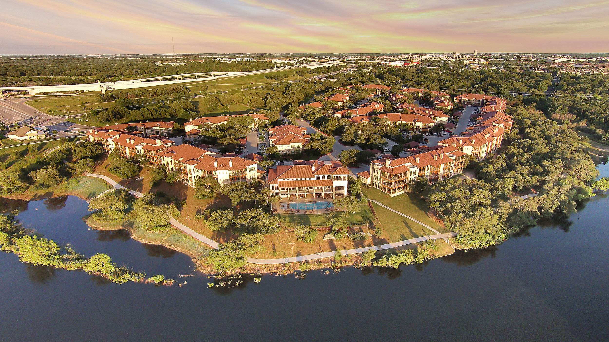 Muir Lake - Cedar Park, Texas (View from above)