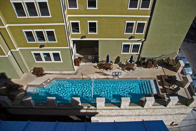 Block at Rio Grande - Austin, Texas (Interior Courtyard & Pool)