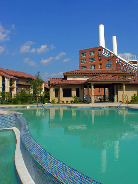New Braunfels Landmark Lofts - New Braunfels, Texas (Pool Area)