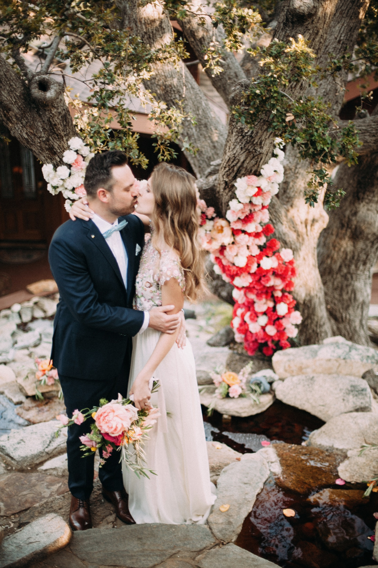 Wedding Florals - Red and Pink