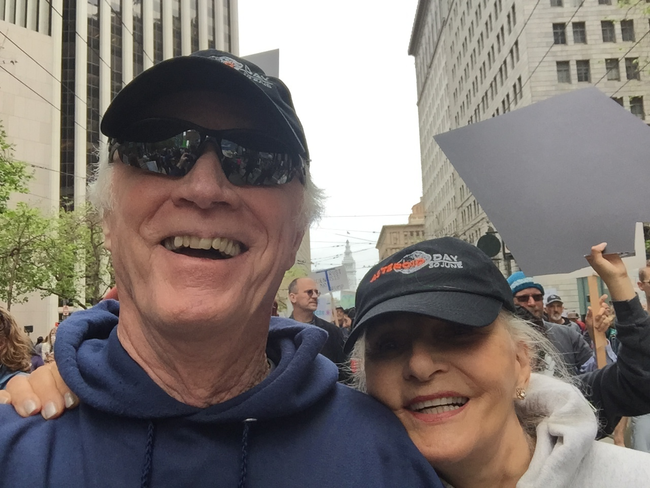 "Rams & I at a ""support science"" march in SF, 2017"