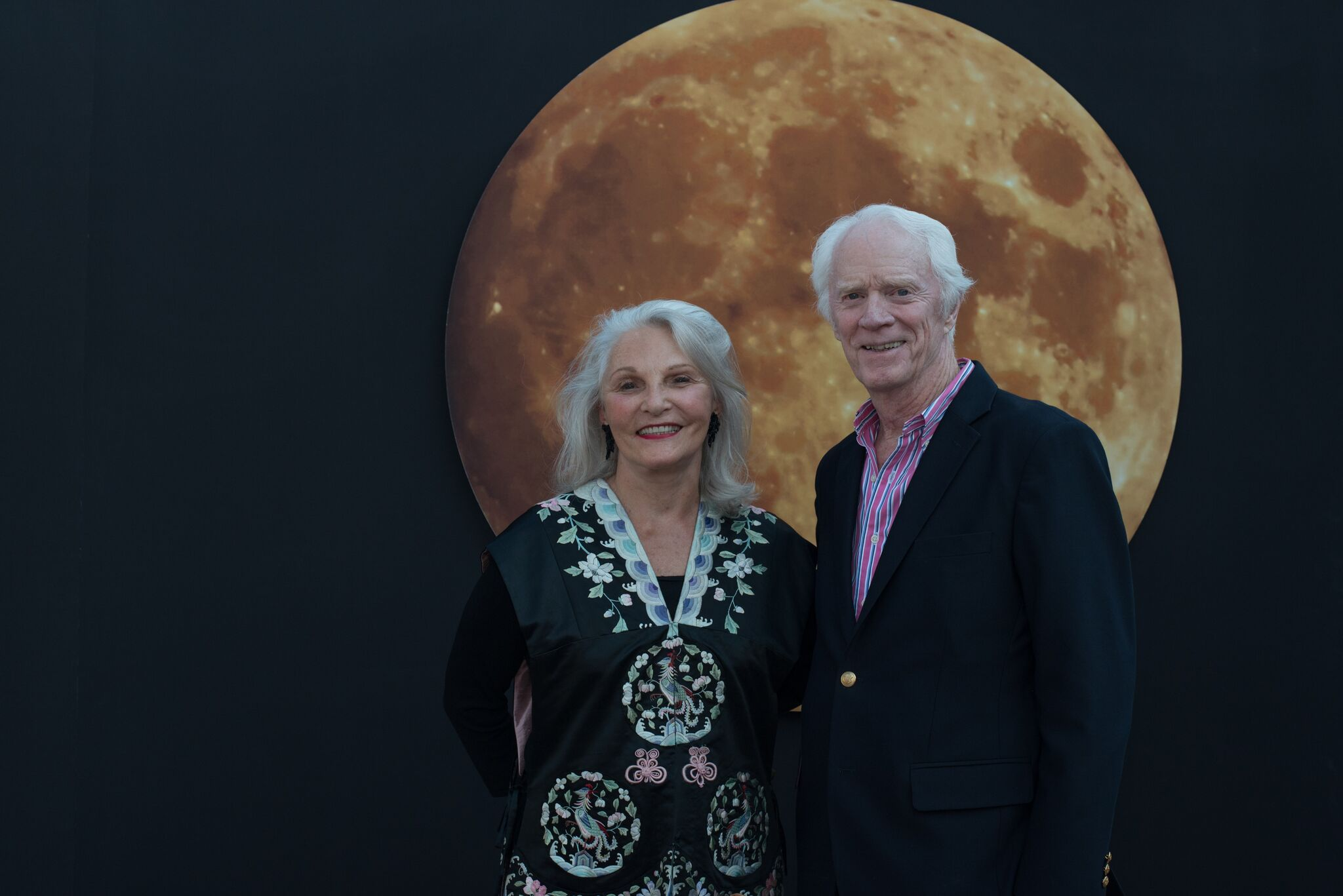 Nancy and I at some museum in front of the Moon...