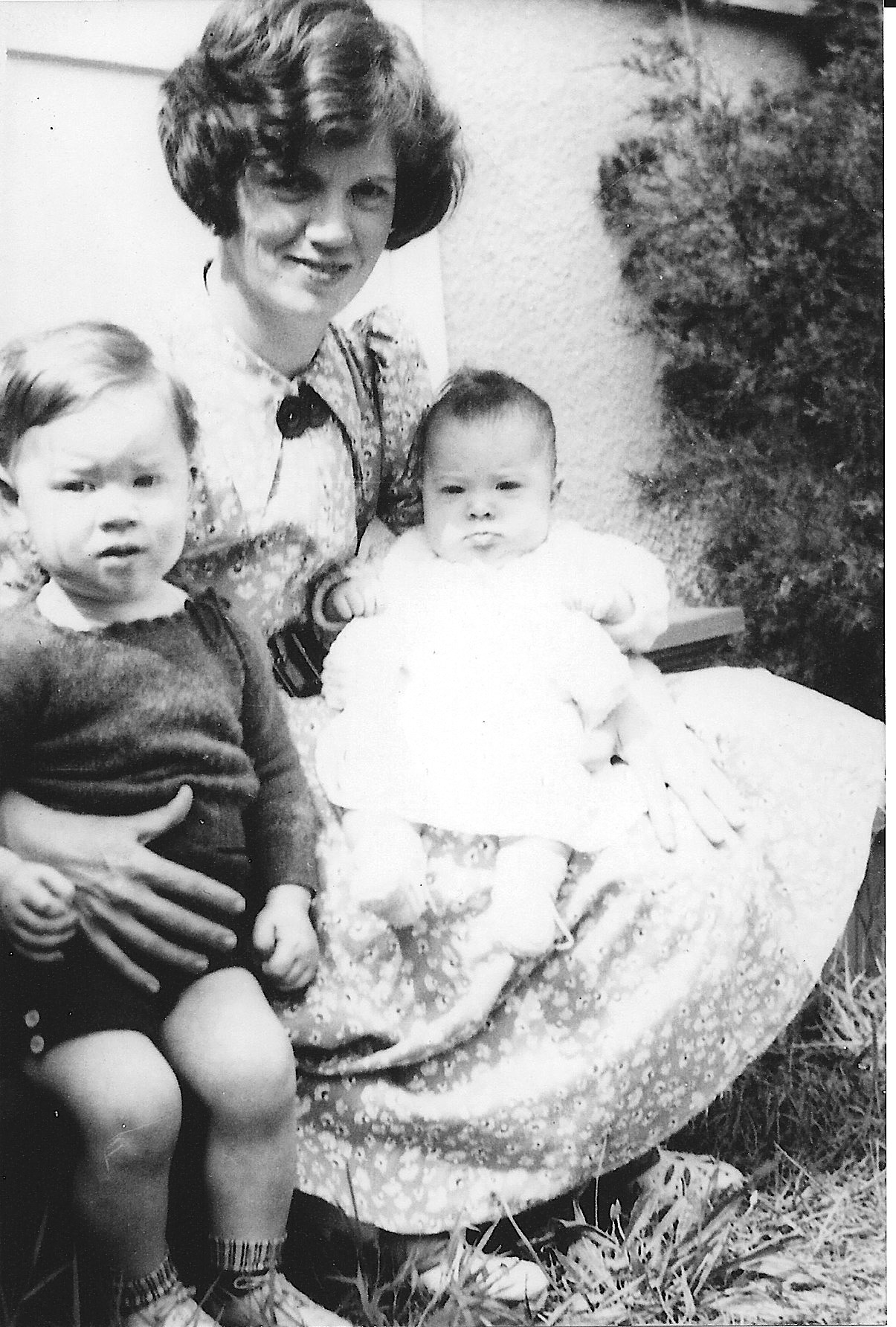 My Mom, Muriel, my sister Janet and I. Circa 1937.
