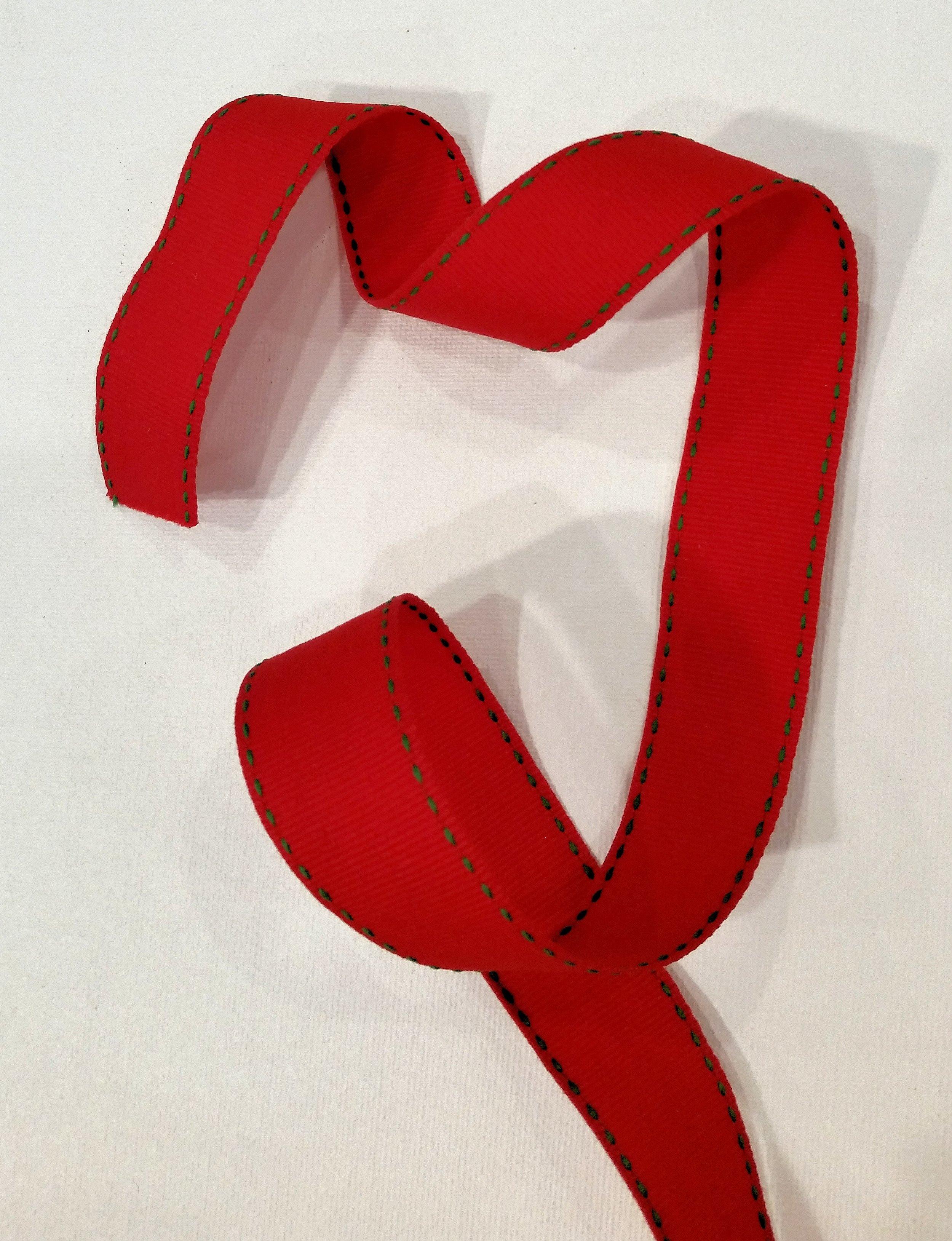 Stitched Edge Red Green Ribbon.jpg