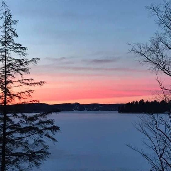 Gorgeous morning winter sunrise on Pen Lake.  Creds J Morris