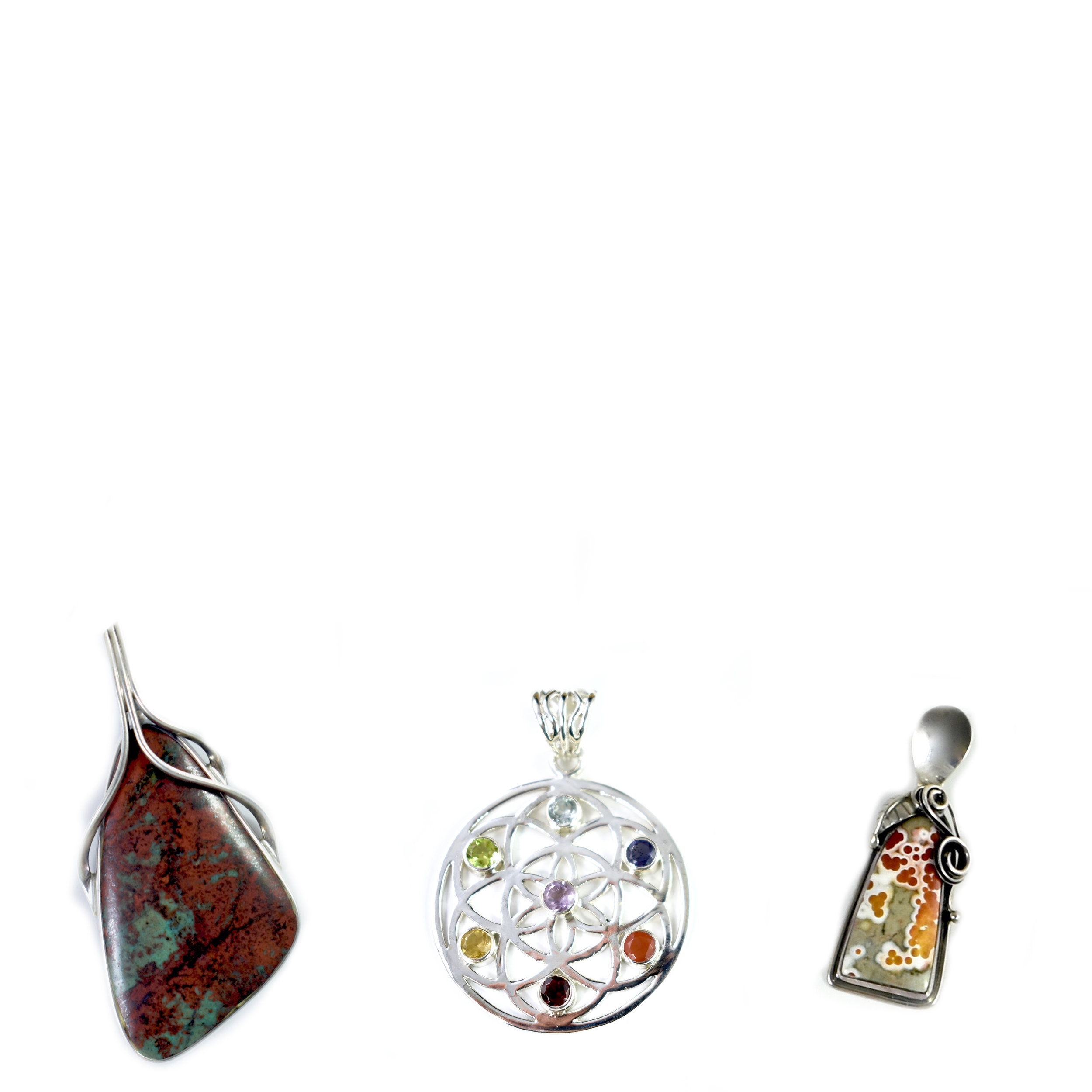 Shop Stone Pendants - Natural Stones in Sterling Silver Settings