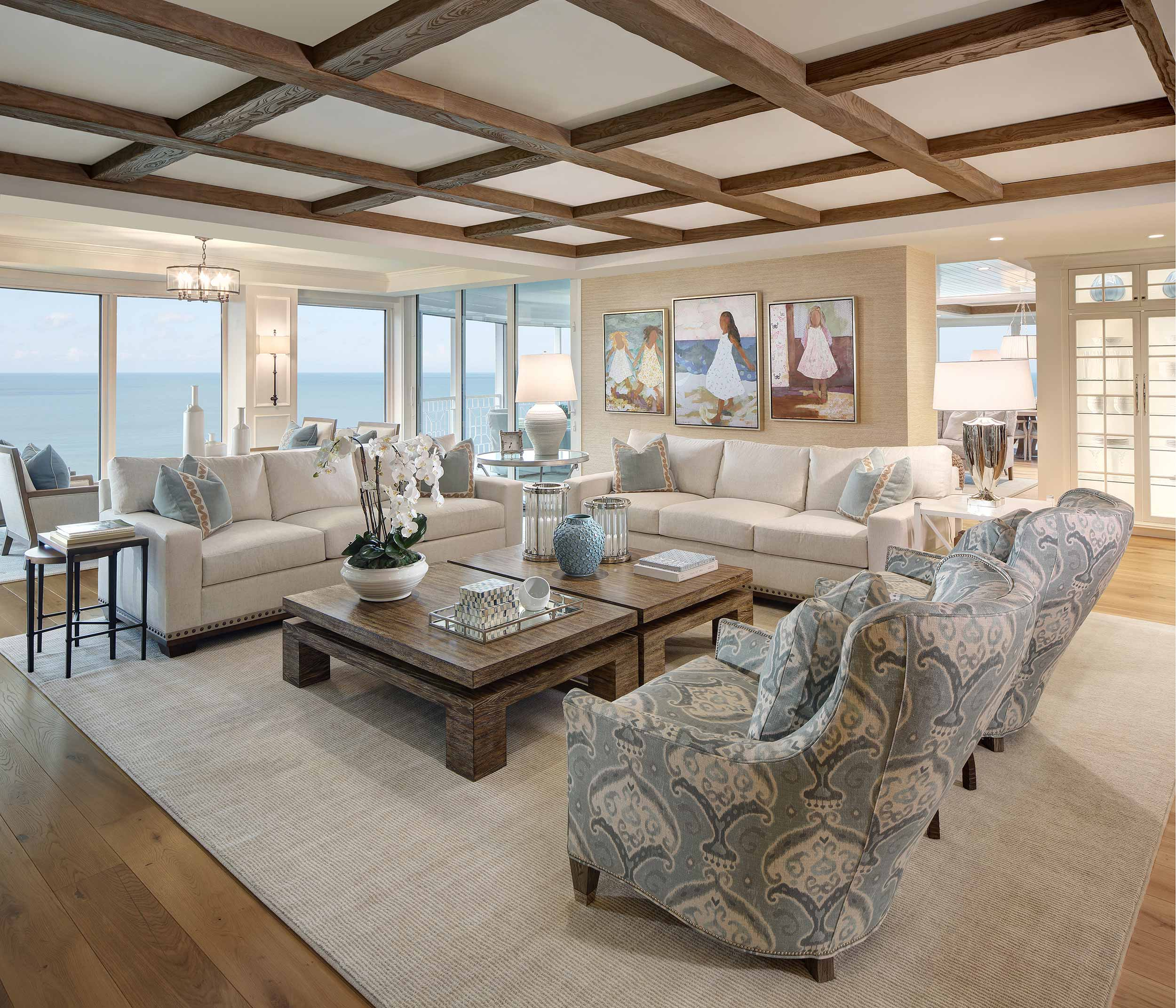 Interior design photography in Naples Florida with ocean view