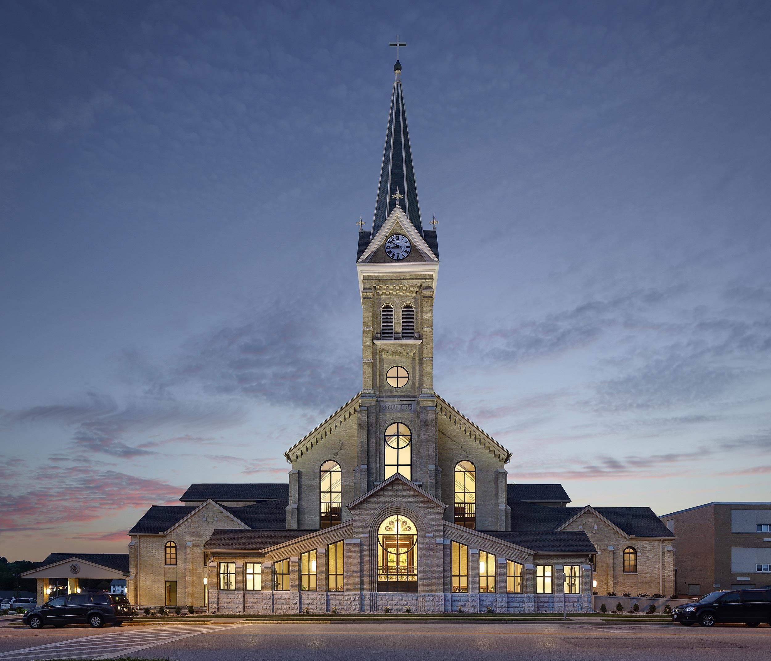 Church exterior photography