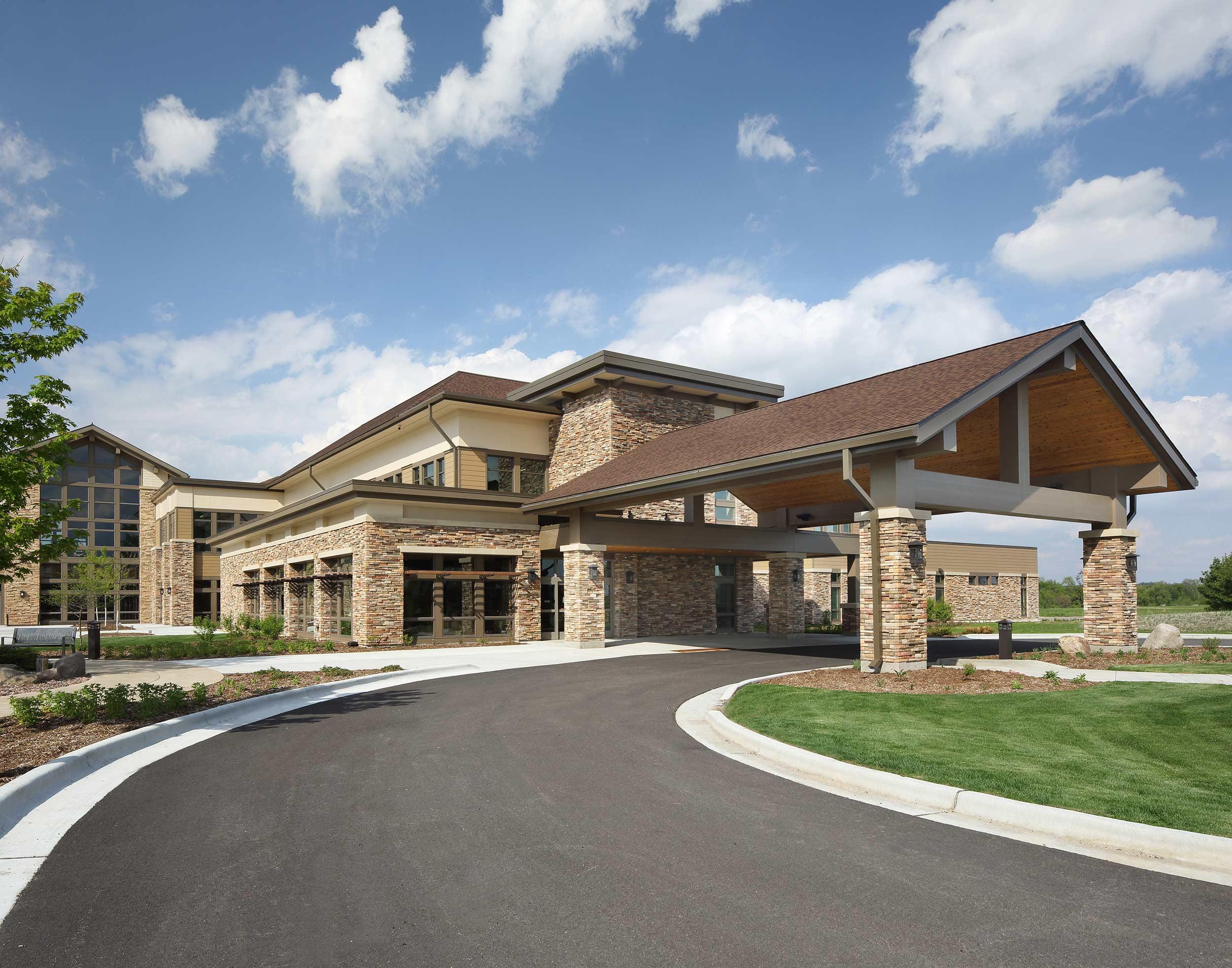 Medical facility exterior photographs