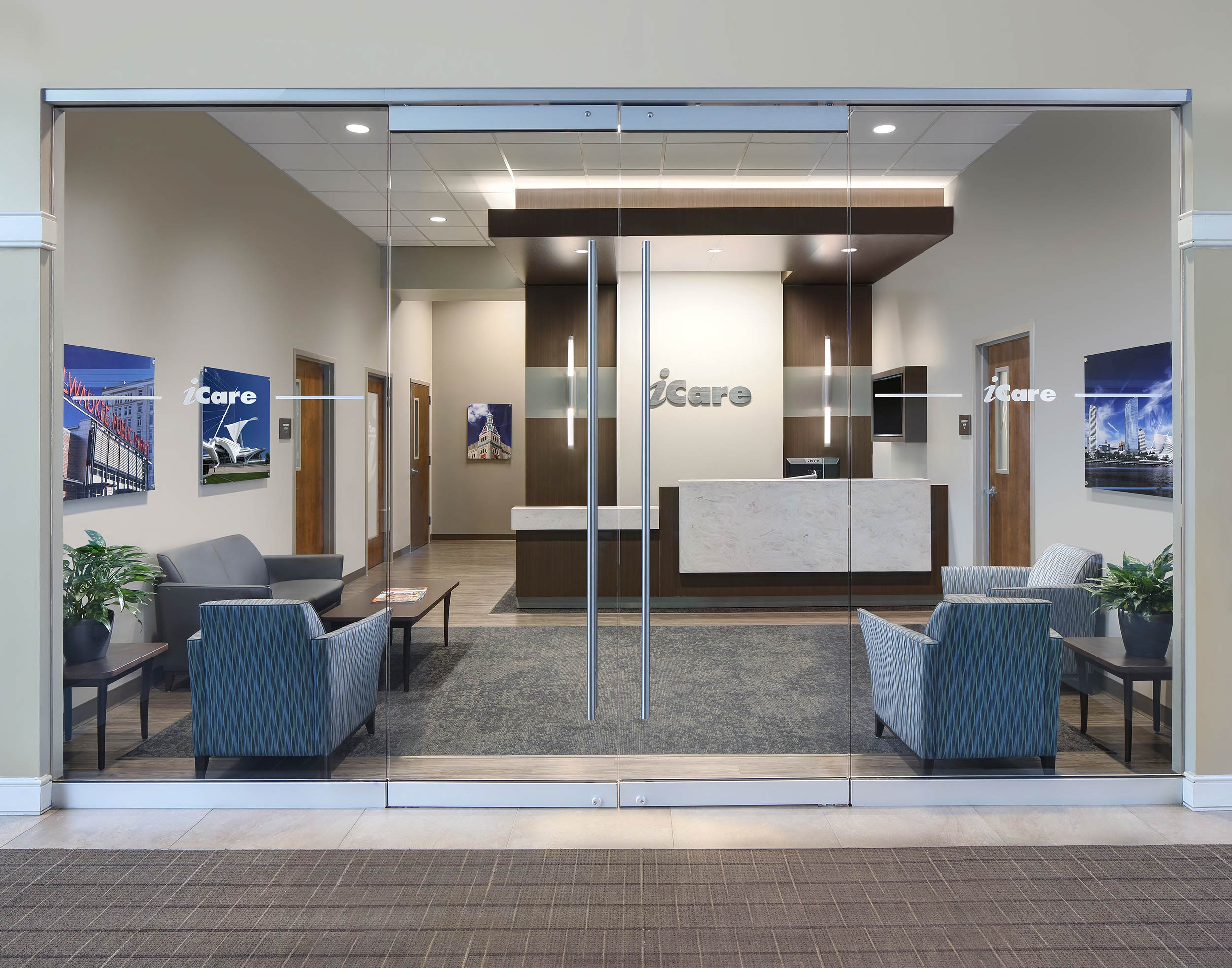 Medical office interior design photographer