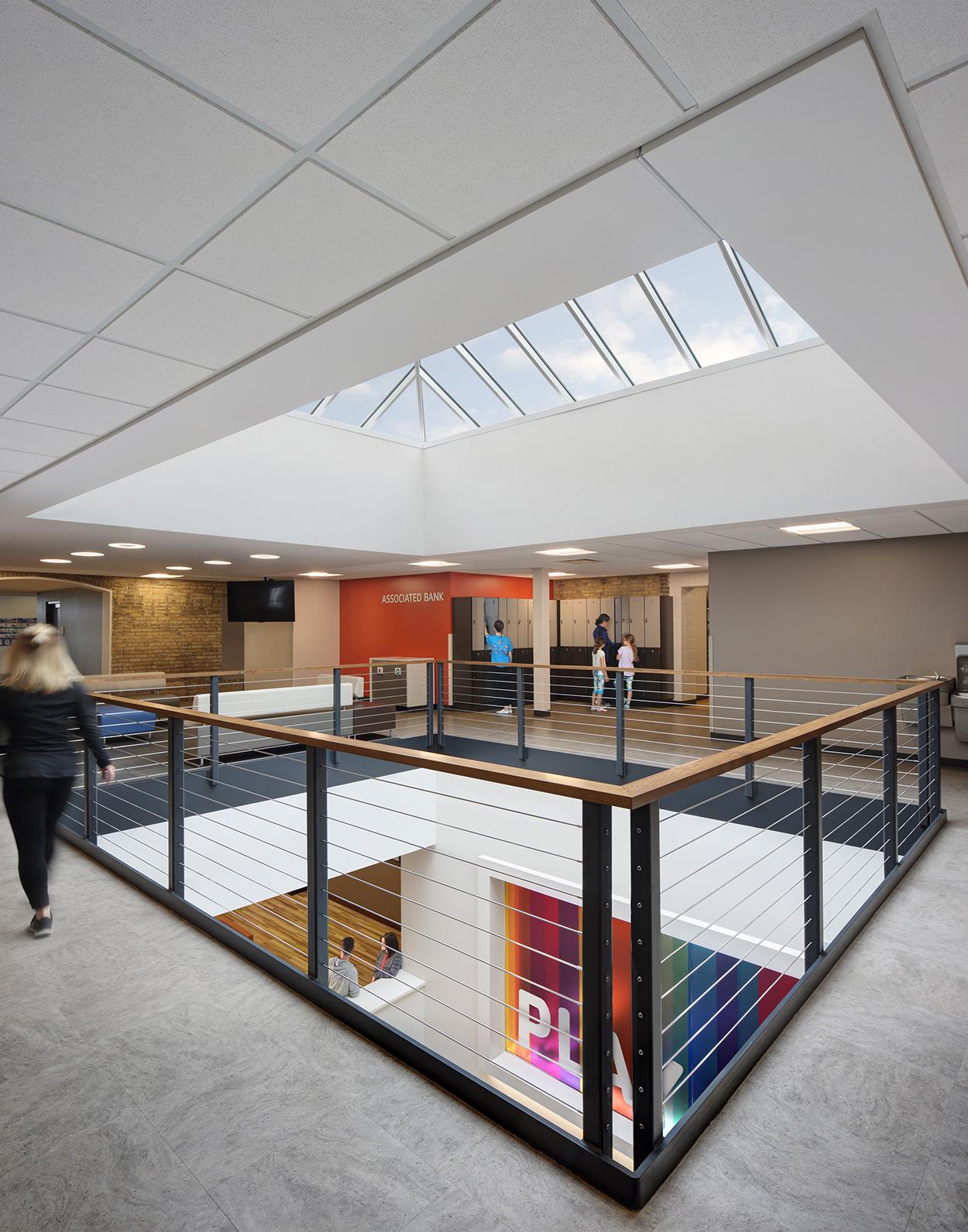 Health & fitness facility interior photography