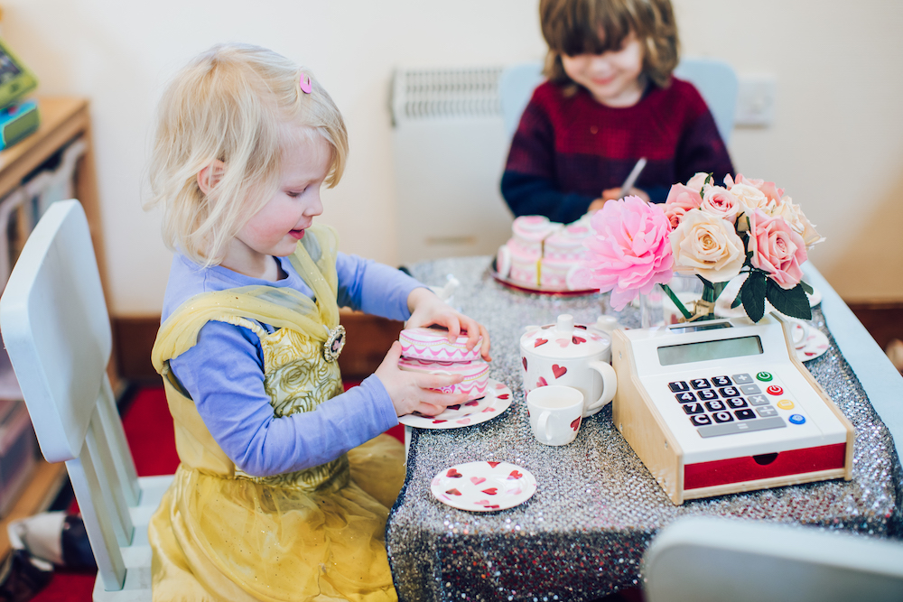 Cafe role play at preschool