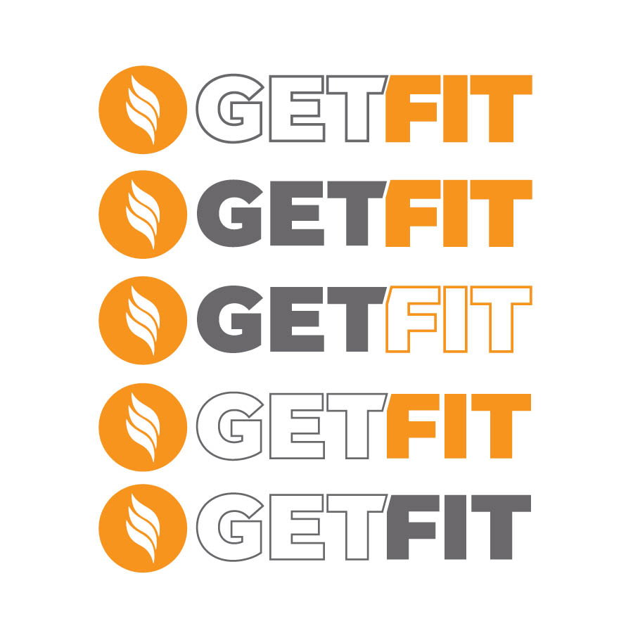 Get Fit Modesto Logo Variations