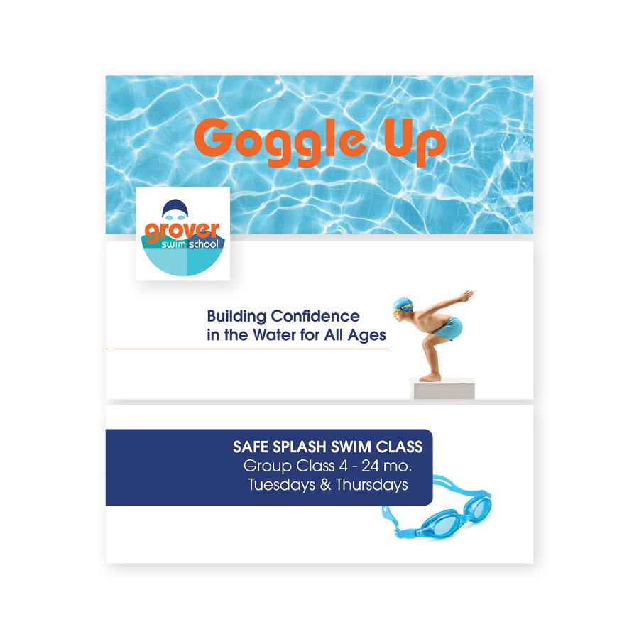 Grover Swim School Event Flyer