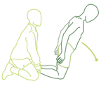 Illustration of Nordic Exercise for reducing chances of a torn hamstring