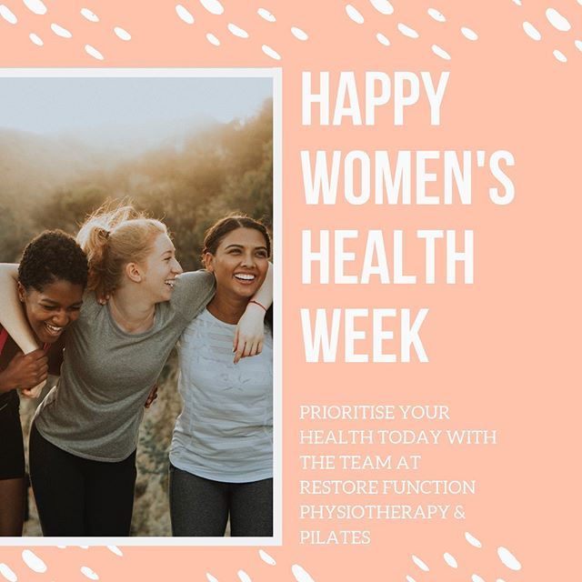 Attention ladies, Happy Women's Health Week 👩 . . . This week is an important reminder to touch base with all aspects of your health and wellbeing. . . . If you've been putting off any 🧘♀️Physiotherapy 🧘♀️Pilates 🧘♀️Massage 🧘♀️Medical Screening Book an appointment with one of our physiotherapists today.  Call (07) 3148 4417 to book today!
