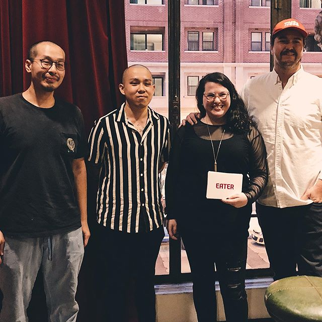 Thanks to @hillarydixlercanavan @eater for organising a panel with good friend @jonyao @katorestaurant and new friend @tacos1986la to talk about restaurant awards. We ended up talking about media attention, customer expectations, the meaning of lists, our goals as restaurateurs and more ❤️ Great crowd and community out last night, thank you