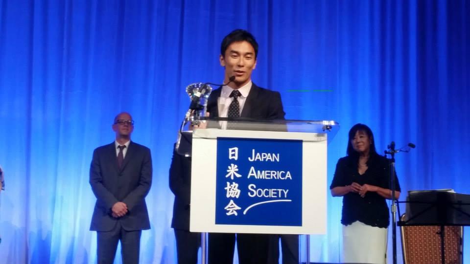 106th Anniversary dinner, race car driver Takuma Sato