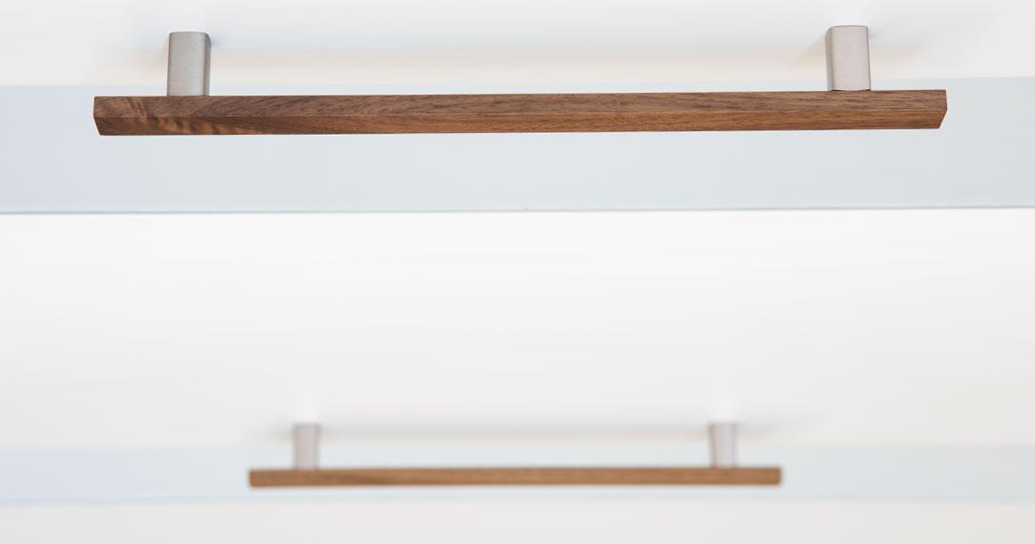 Wooden handle Ara W in walnut. (Photo: Viefe)