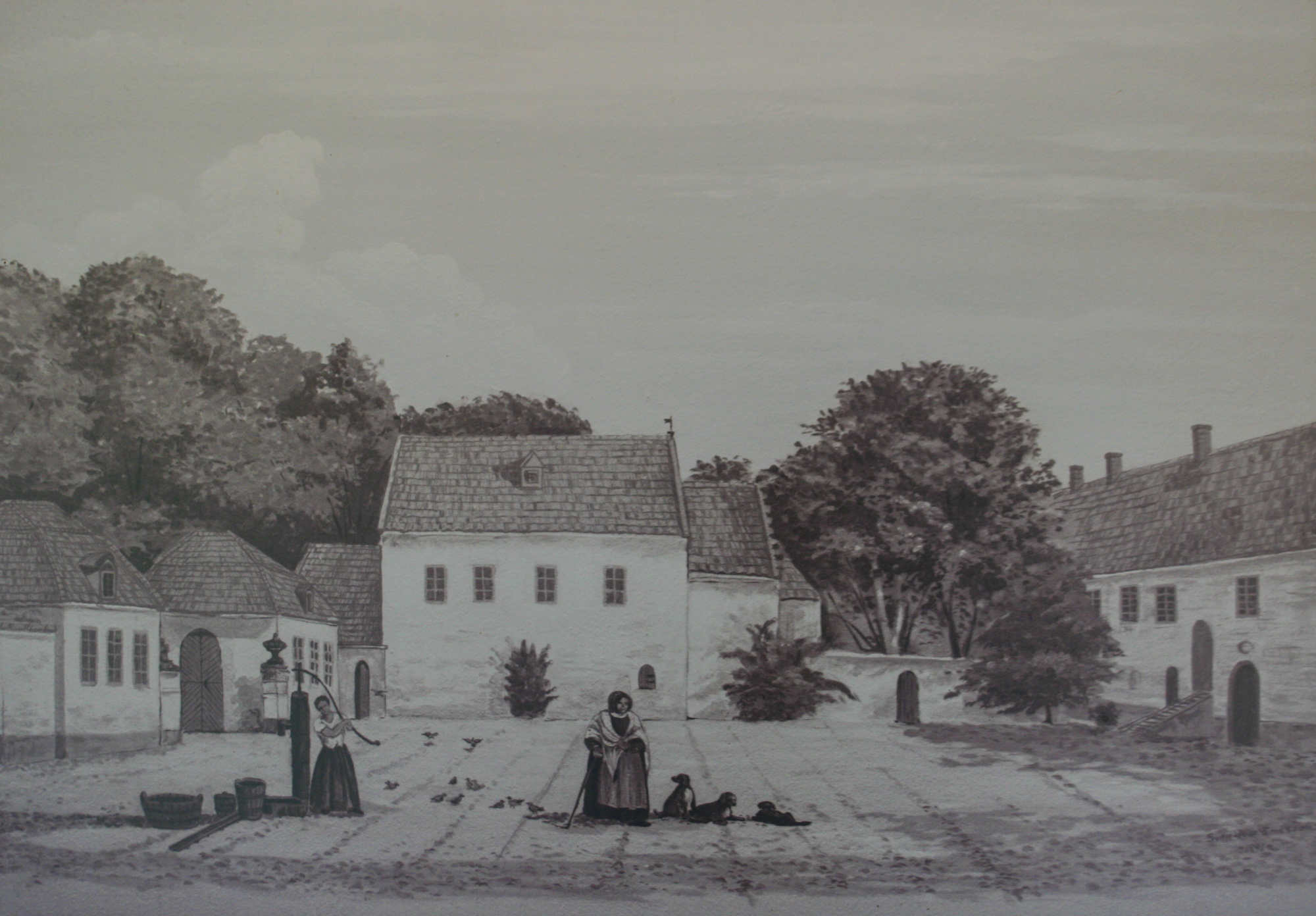 Bosiö Kloster prior to the romantic style renovations in the 19th Century