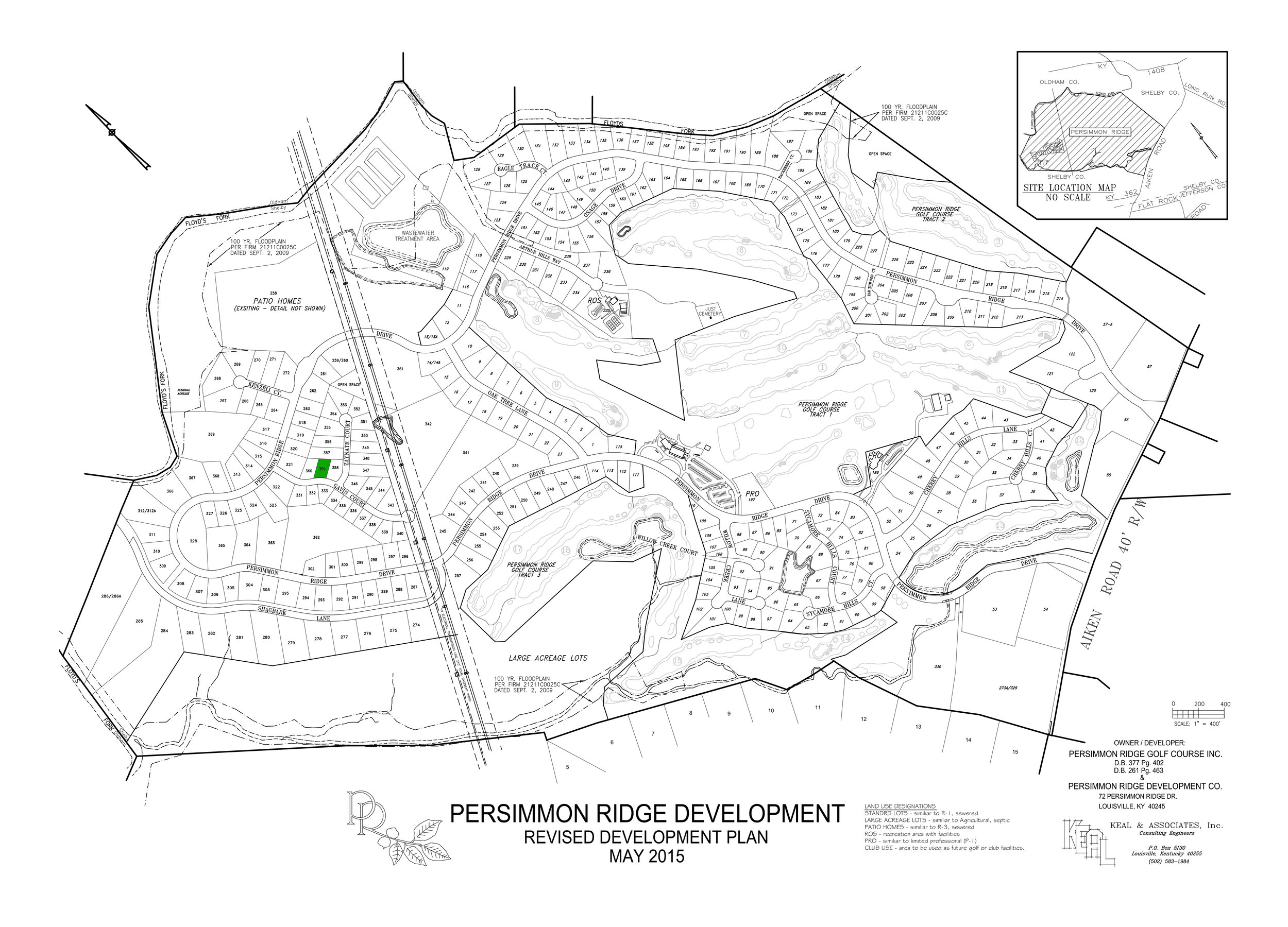 Lot #359 indicated in green on plat map.   View Dimensions.