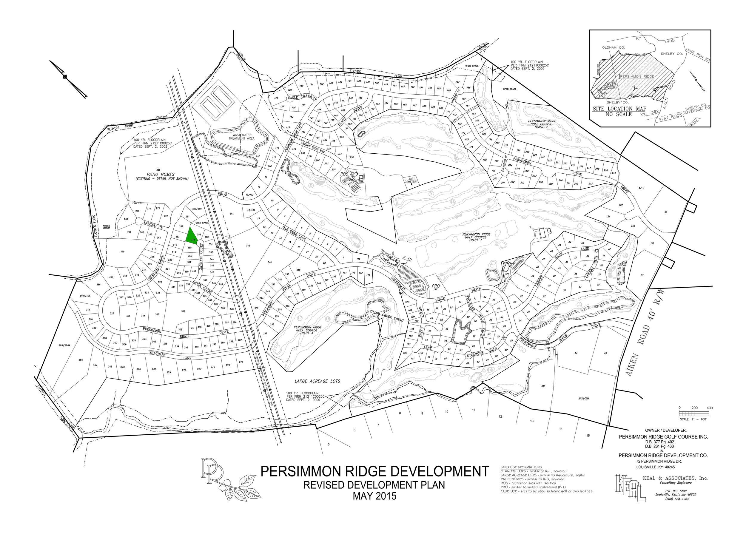 Lot #334 indicated in green on plat map.   View Dimensions.
