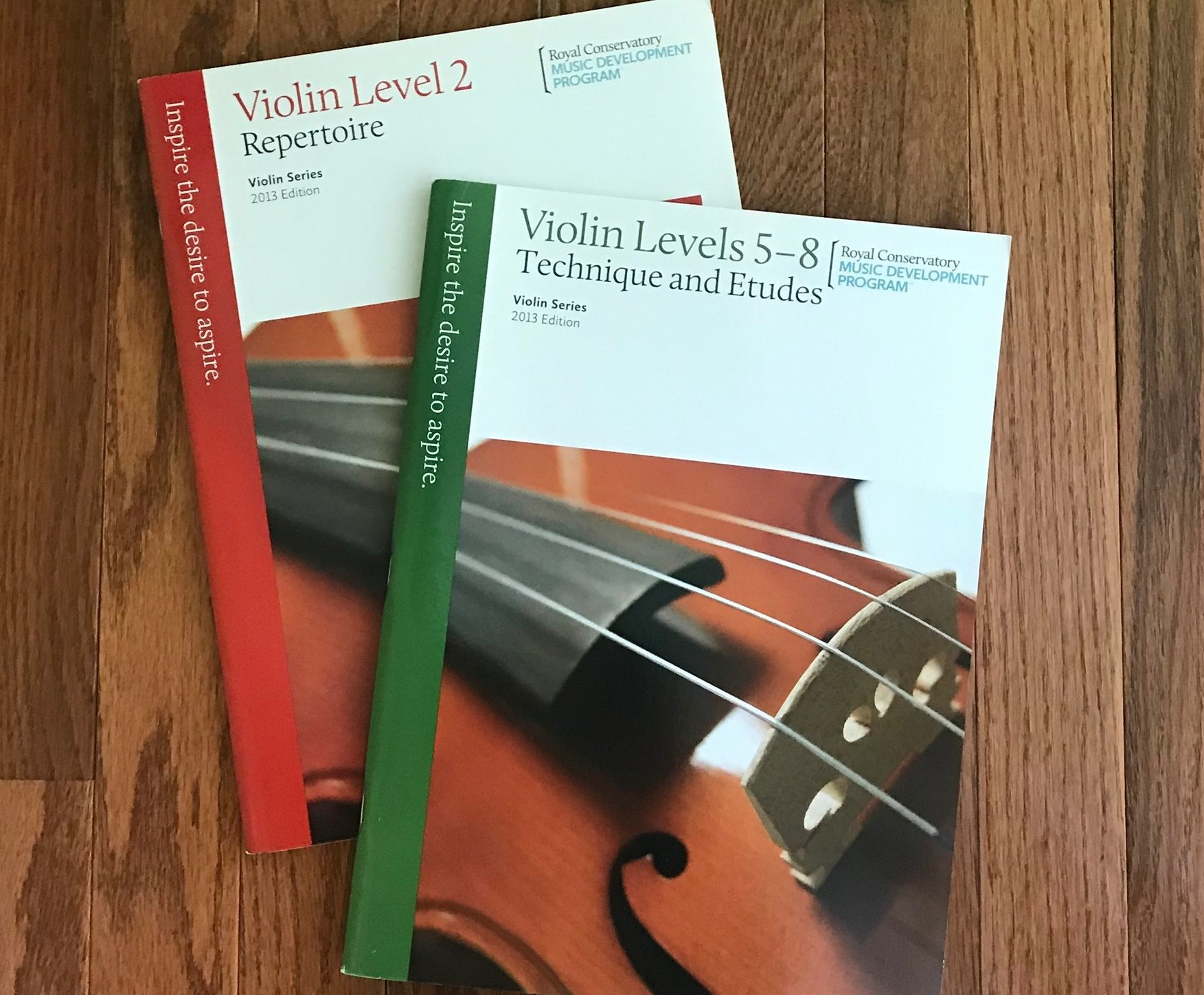 Example of Repertoire and Technique books