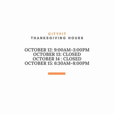 Please note our hours for the upcoming long weekend. Have a wonderful thanksgiving 🧡