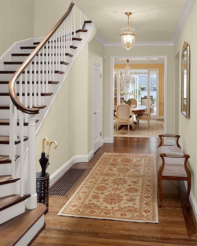 An entry hall architecture and interior design collaboration by Robert and Tim  #architecture #interiordesign #sanfranciscohome #entryhall #staircase