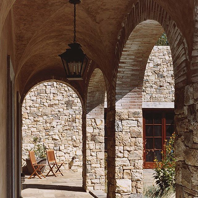 Stone arches from an estate we designed in Northern California— experienced from within and afar  #stone #stonearches #architecture #californiaarchitecture #estate