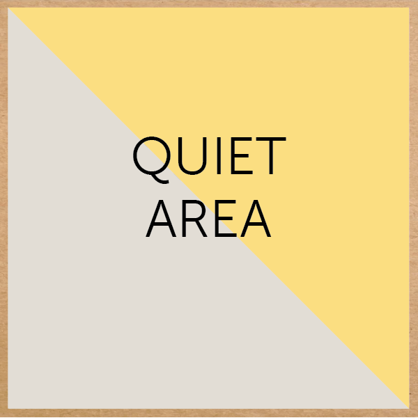 A small quiet place for one to two friends to have their space. Children can use this area at any time they wish too. It's great for reading books or just relaxing. A great place for children to work through their emotions or just chill out