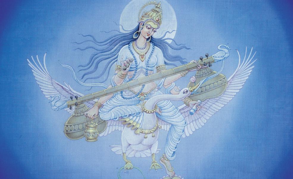 Saraswati, by Pieter Welteverde www.sanatansociety.com