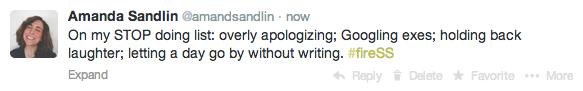 stop doing list tweet