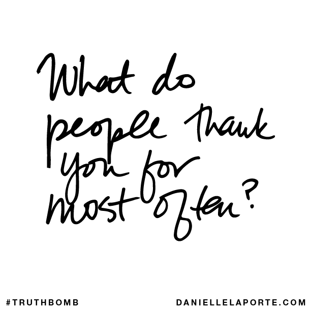 What do people thank you for most often?.png