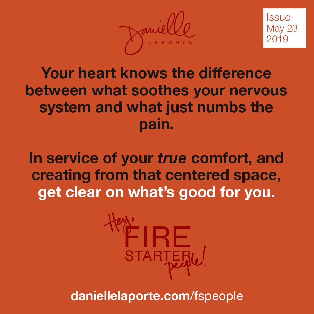 "The ""comfort zoning"" exercise Danielle LaPorte"