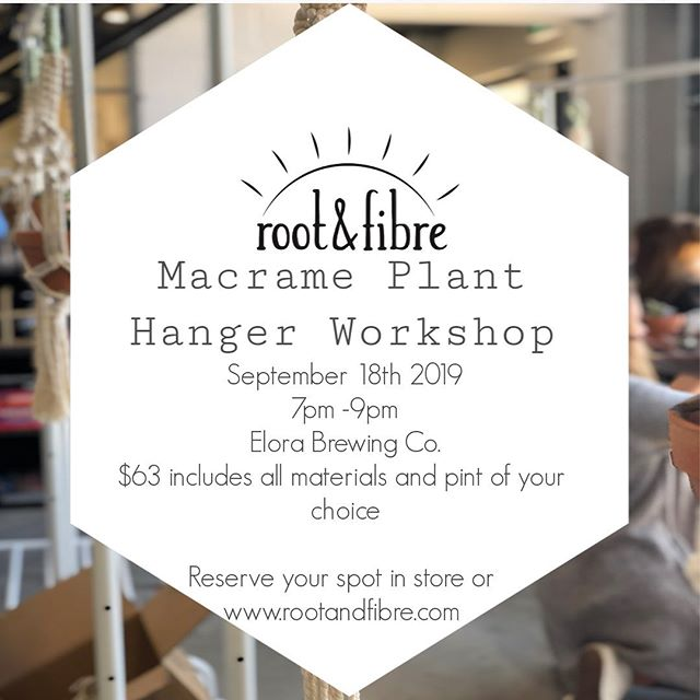@elorabrewingcompany  workshop comin at you next week ✨  Www.rootandfibre.com to reserve your space