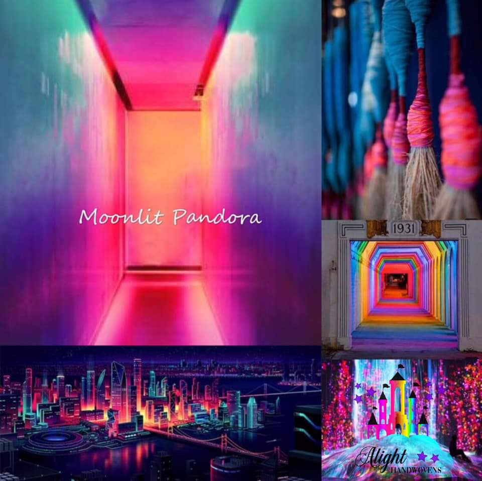 MOONLIT PANDORA  Photo ID: A collage of photos showing colors from orange, pinks blues and purples with a coupe of doorways