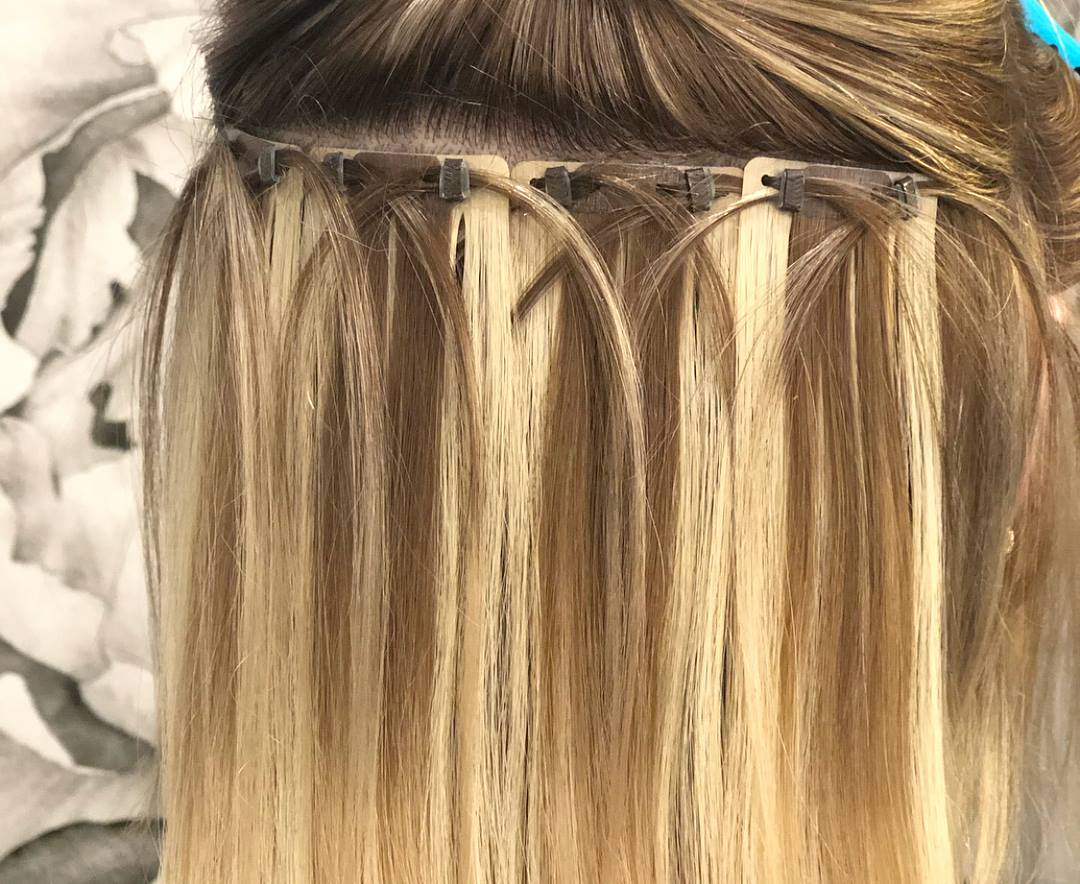 EXAMPLE OF A LOCKET BEADED WEFT  From $500+  Photo source: Locket Hair Extensions Facebook Page