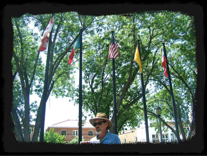 Five Flags flown over the Old Town Plaza!