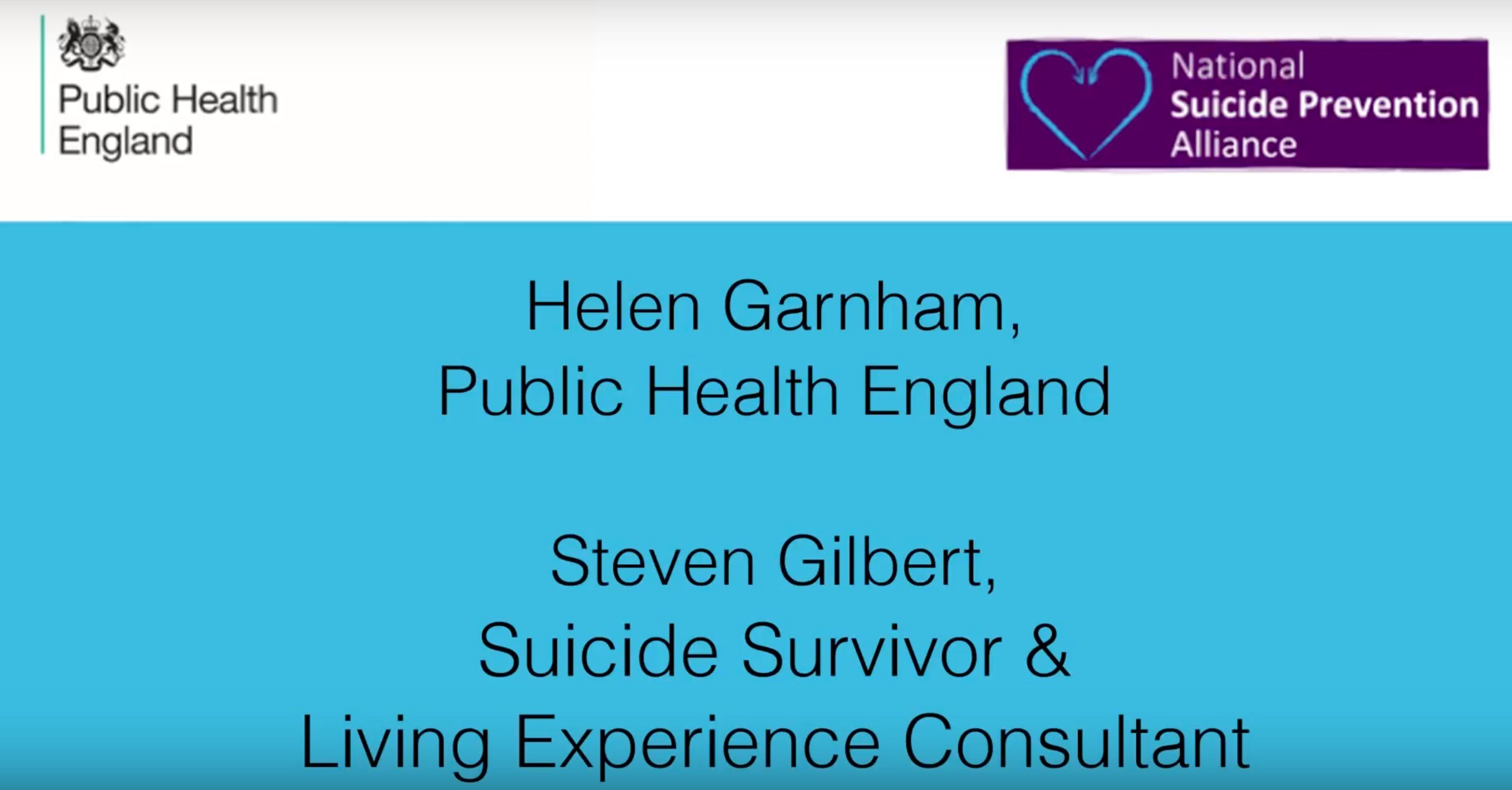 Living Experience & Suicide Prevention - Steve created a series of 8 short videos, with a colleague at Public Health England, to explore the importance of directly involving suicide attempt survivors in local suicide prevention planning.