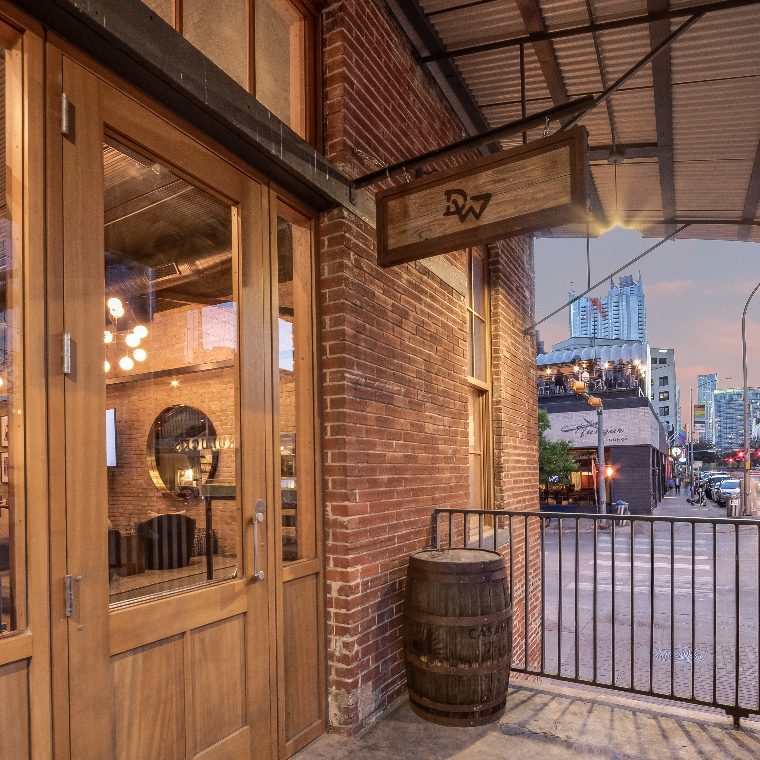 Driftwood Downtown Club Access - Members will have access to the main level, tap room, and rooftop (weather permitting) during regular operating hours, exclusive of private events. Each space includes a fully stocked bar, multiple TV screens, lounge areas, Wi-Fi, and sound system.