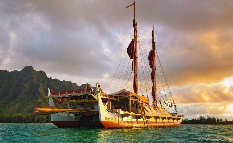 Hōkūleʻa  on its current voyage.   TODD YAMASHITA