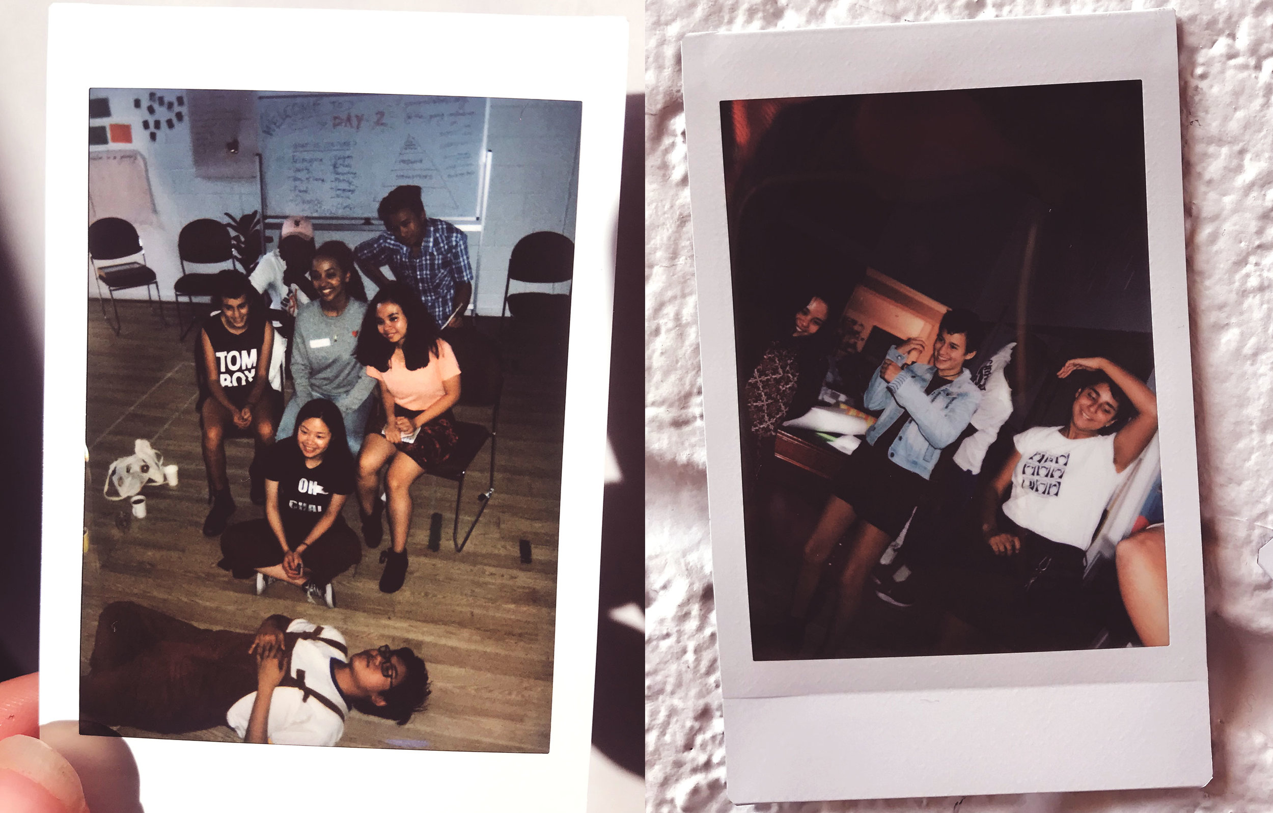 Polaroids from Young Initiators Carlton / Yarra workshop, March 2019.