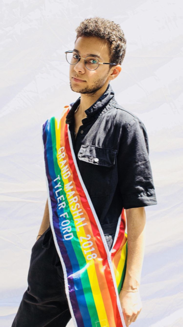 Tyler as NYC Pride 2018 Grand Marshal. Photo by  D. Strutt , June 2018